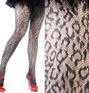 Lip Service Leopard Fishnet Tights Pantyhose Stockings
