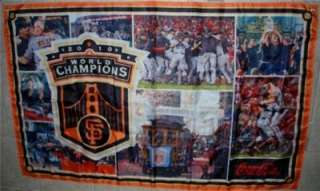 San Francisco SF Giants 2010 WORLD CHAMPIONS Large Flag Banner 58x36