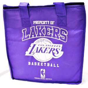 LAKERS NBA OFFICIAL LOGO REUSABLE DRINK COOLER BAG Everything Else
