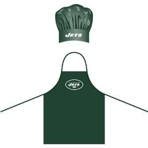 New York Jets NFL Barbeque Apron and Chefs Hat Sports