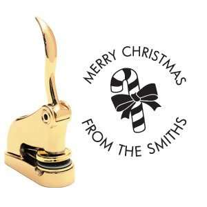 Merry Christmas Gift Embosser   Gold   Style 49