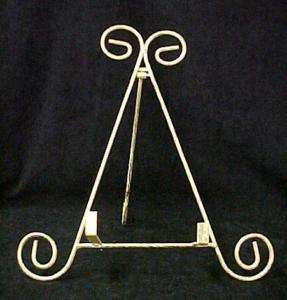 Victorian Gold Gilded Table Top Plate Rack Stand Easel