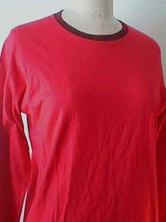 Gucci Lipstick Red 100% Cotton Jersey Knit Crew Neck Tee Shirt   S