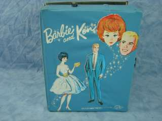Vintage Barbie and Ken Carrying Case Closet w Both Dolls and Clothes