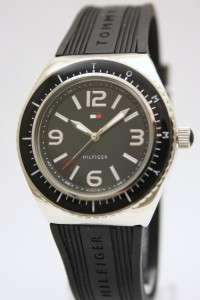 New Tommy Hilfiger Women Black Rubbern Watch 1781005*
