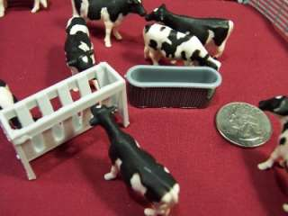 Ertl Toy Animals Cows Horses Farm Fence 1/64 Water Tank Pigs Chickens
