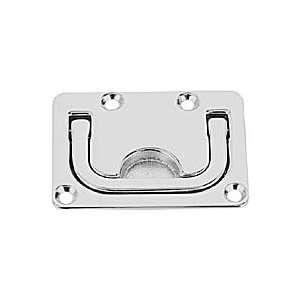 Flush Lifting Handle   Chrome Plated Bronze (Size 3 3/4
