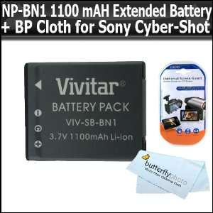 NP BN1 (1100 mAH) Extended Rechargeable Battery Kit For Sony CyberShot