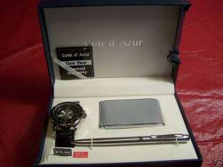 Mens Watch Set with Watch, Calculator and Pen