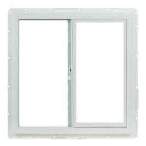 Vinyl Slider Window, 24 in. x 24 in. White with Single Glazed Glass