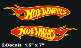 Hot Wheels Logo Vinyl Decal Window Sticker Set Of 2