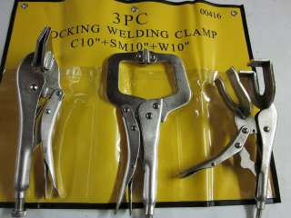 3pc LOCKING VISE GRIP WELDING CLAMP PLIER SET ~NEW~