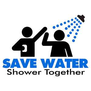 SAVE WATER Shower Together OUTSOURCED Manmeet T Shirt