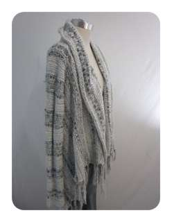 New Free People Frost Gray The Runaway Love Wrap Sweater Small $168