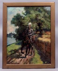 Original Listed American Antique Impressionist Oil Painting Paul