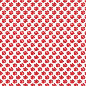 PAW PRINT WHITE & RED PATTERN Vinyl Decals 3 Sheets 12x12