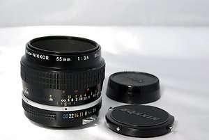 Nikon 55mm f3.5 lens micro Nikkor non Ai F maco 610563625031