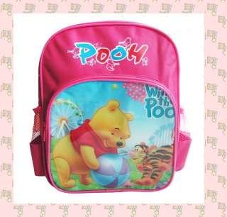 New Fashion Pink Childrens Pooh Bag Schoolbag Backpack Satchel Lovely
