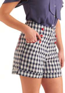 In the Picnic of Time Shorts   Mid length, Vintage Inspired, Statement