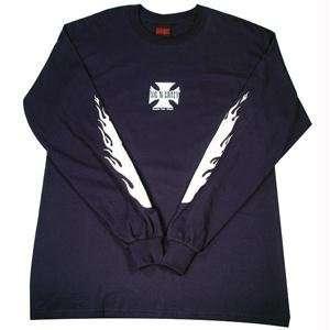 Mens, L/S T Shirt, Iron Cross, Navy/White, XL