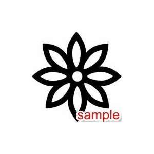 FLOWERS AND PLANTS DAISY FLOWER 10 WHITE VINYL DECAL