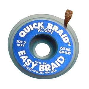 Easy Braid Desoldering Braid, Quick Braid, .100, 10