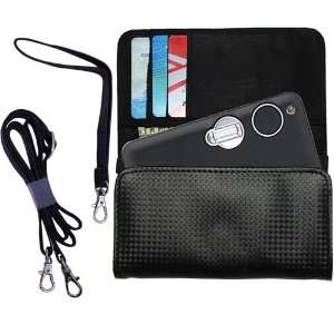 Black Purse Hand Bag Case for the Nikon Coolpix S3 with both a hand