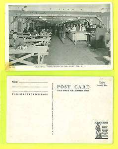 DIX NEW JERSEY POSTCARD THE MESS HALL RECEPTION CENTER RPPC