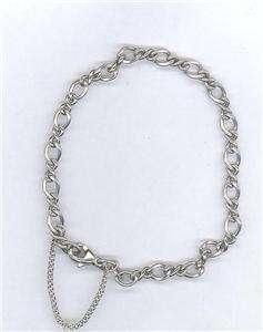 James Avery Sterling Silver Medium Twist Linked Charm Bracelet 7 Long