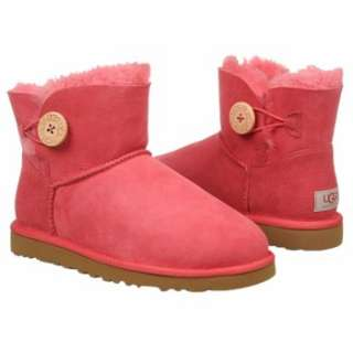 Womens UGG Mini Bailey Button Tea Rose Shoes