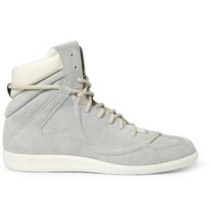 Maison Martin Margiela Suede and Leather High Top Sneakers  MR PORTER