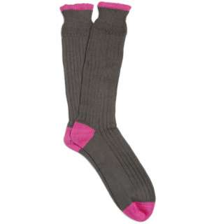 Accessories  Socks  Casual socks  Thick Ribbed Cotton Socks