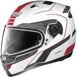 Nolan N85 Vintage Metallic White/Red Full Face Helmet (XS
