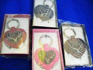 Western Love Heart Throb Key Chain Ring Ast Colors NIB
