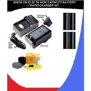 com Nikon EN EL3E High Capacity Lithium Ion Replacement   2 Batteries