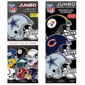 NFL Football Jumbo Helmet Vending Stickers Sports