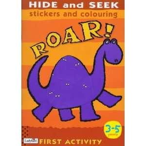 Hide and Seek Stickers and Colouring: Roar (Hide & Seek