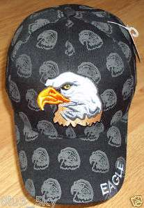 DELUXE USA PATRIOTIC AMERICAN BALD EAGLE BALL CAP HAT