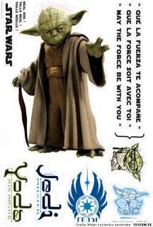 Star Wars Clone Jedi YODA 11 Wandtattoo Wandsticker