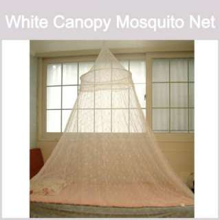 Mosquito net White Canopy Hoop Lace Bed Insect Bug NEW