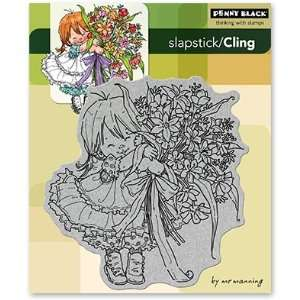 Penny Black Cling Rubber Stamp 5X6 Thanks A Bunch