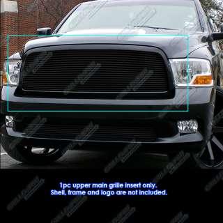 2009 2012 Dodge Ram 1500 Pickup Black Billet Grille Grill Insert 2010