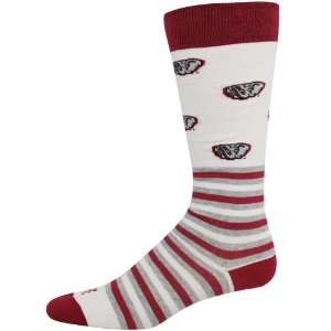 Alabama Crimson Tide White Striped Logo Tube Socks