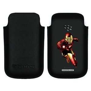 Iron Man Hand on BlackBerry Leather Pocket Case