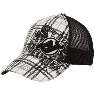 Devils Black White Plaid Suffolk Closer Mesh Back Flex Fit Trucker Hat