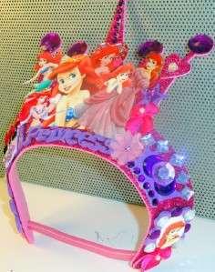 OOAK Disney Princess Tiaras / Crowns Party Hats / Favors Rapunzel