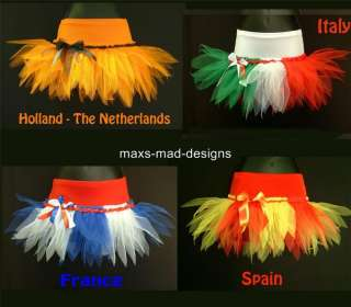 TUTU SKIRT~ FLAG PARTY~ FANCY DRESS ~WORLD CUP FOOTBALL