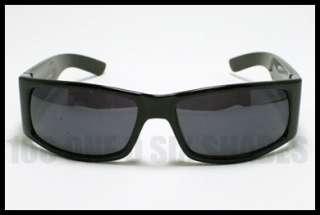BIKER Sunglasses for Men Motorcycle Rider Style Dark BLACK Casual