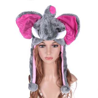 Cartoon animal elephant cute fluffy plush Hat cap H1415