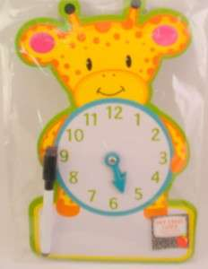 Giraffe LEARNING CLOCK Kindergarten Math Teacher Time